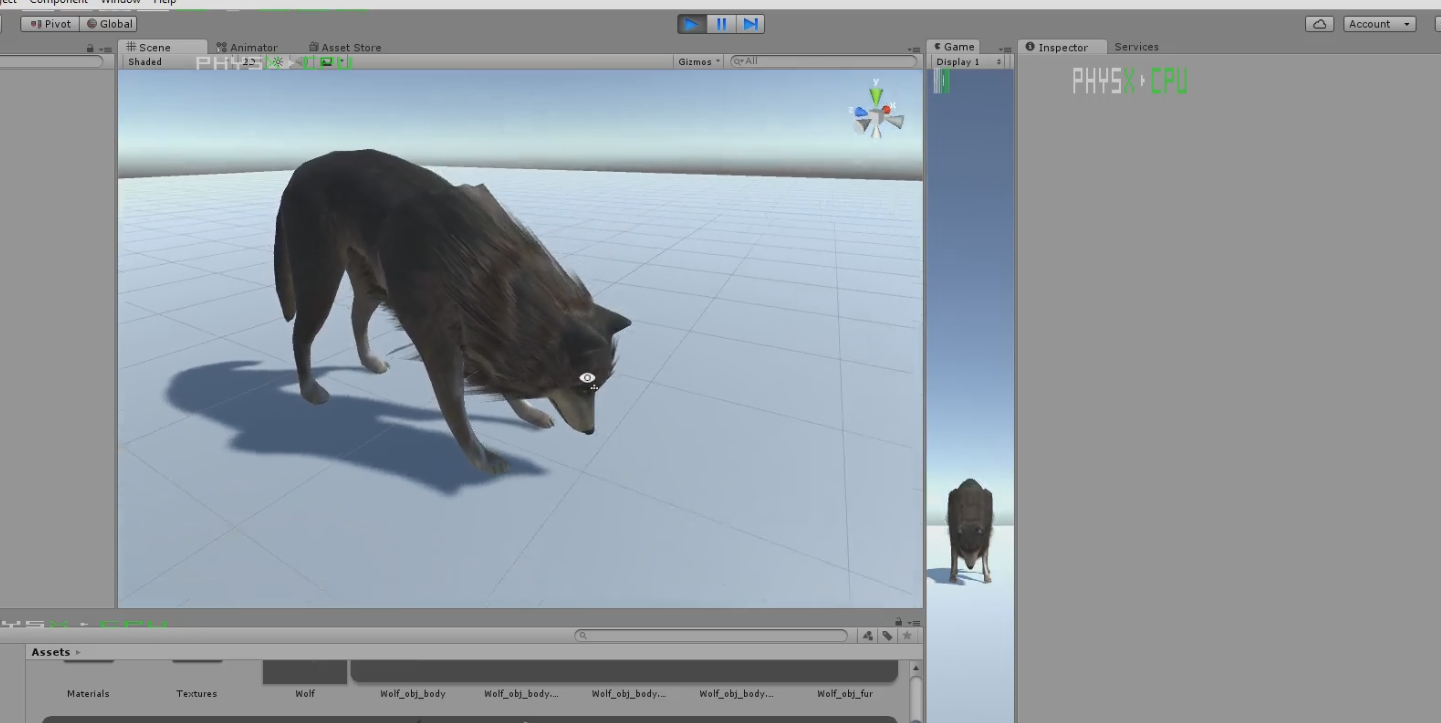 Wolf Rigged Low-poly and Game-Ready
