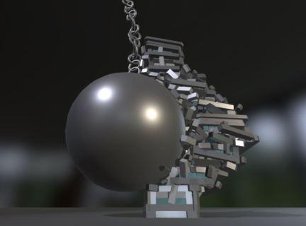 Bullet physics demolition animation-5