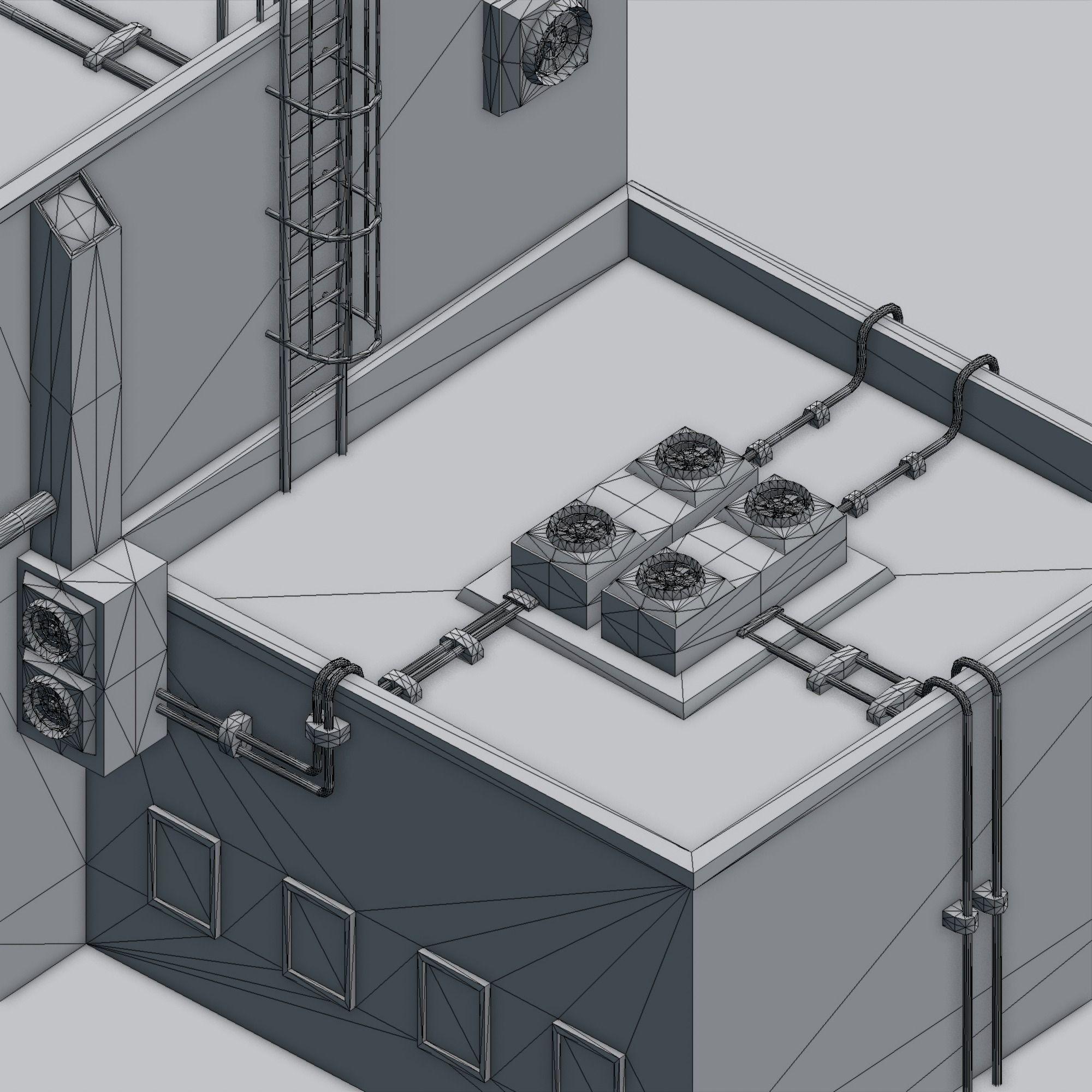 Futuristic ghetto building