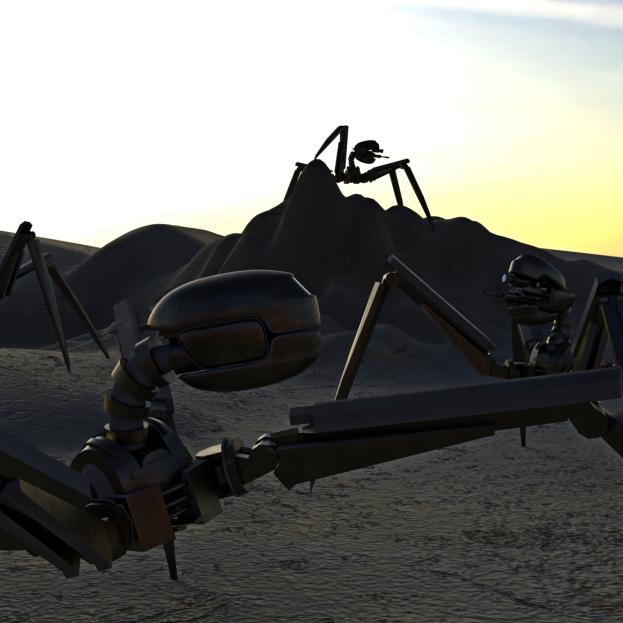 Gun Bot Cycles Rrender Scene 1