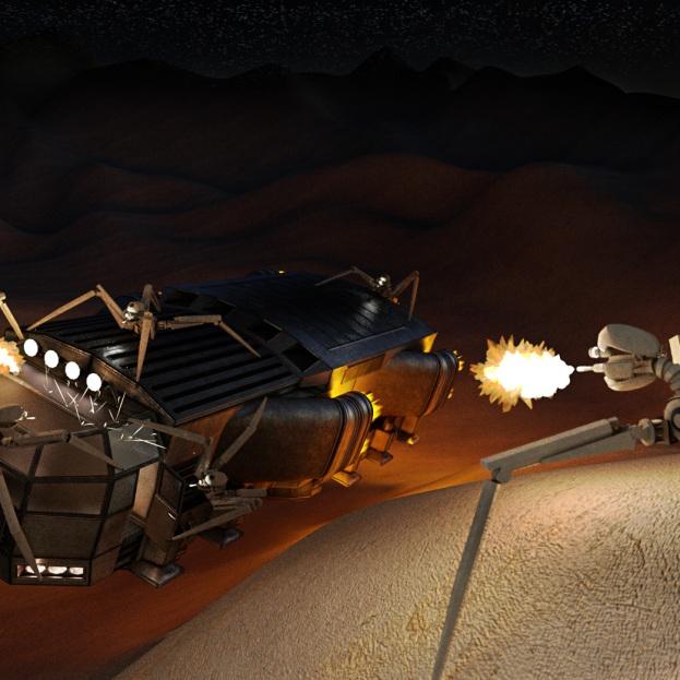 Gun Bot Cycles Rrender Scene 2