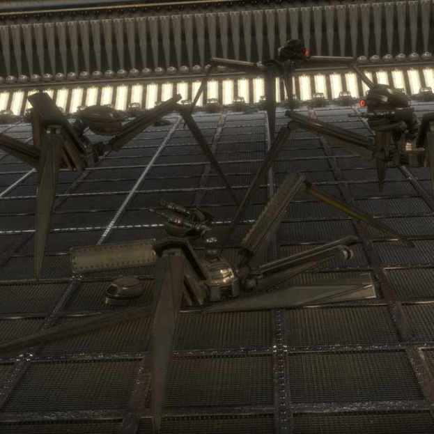 Gun Bot Cycles Rrender Scene 4