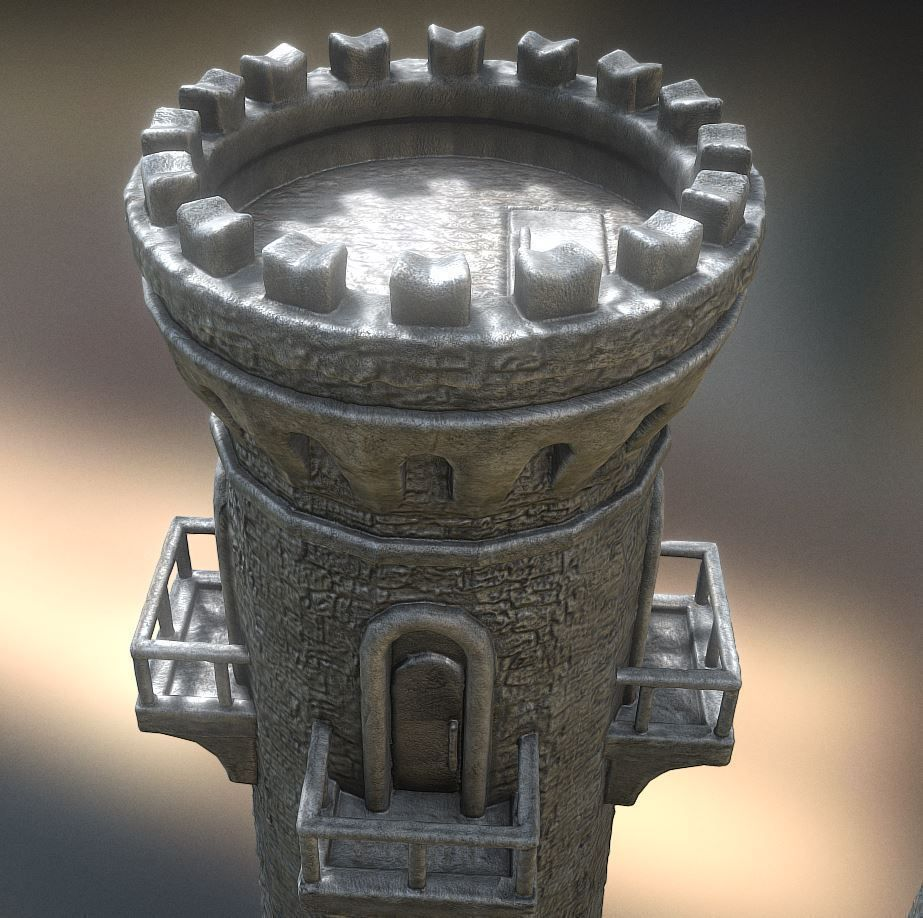 medieval-guardtower-3d-model 23