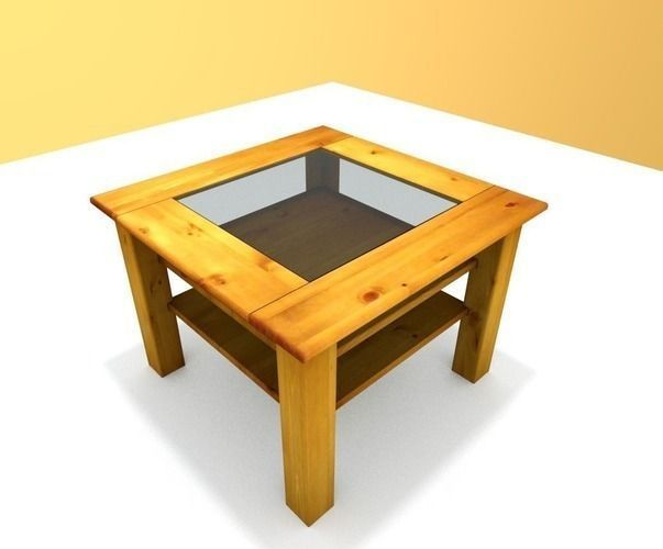 wooden-table-with-glass-top-lowpoly-3d-model-low-poly-1