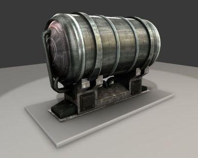 Metal Water Tank 3d-model