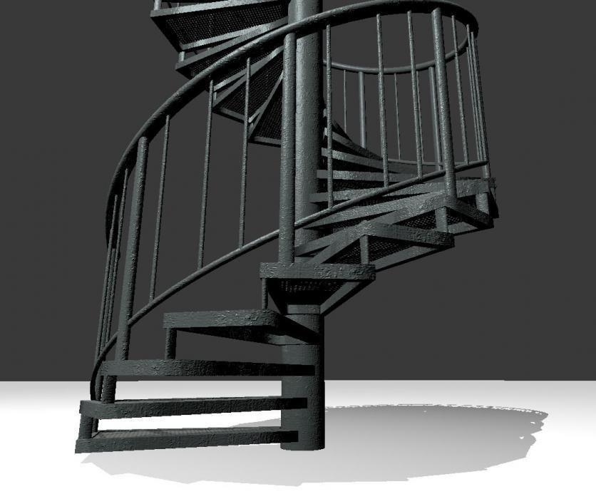 Aluminum Spiral Staircases - 3d-Model