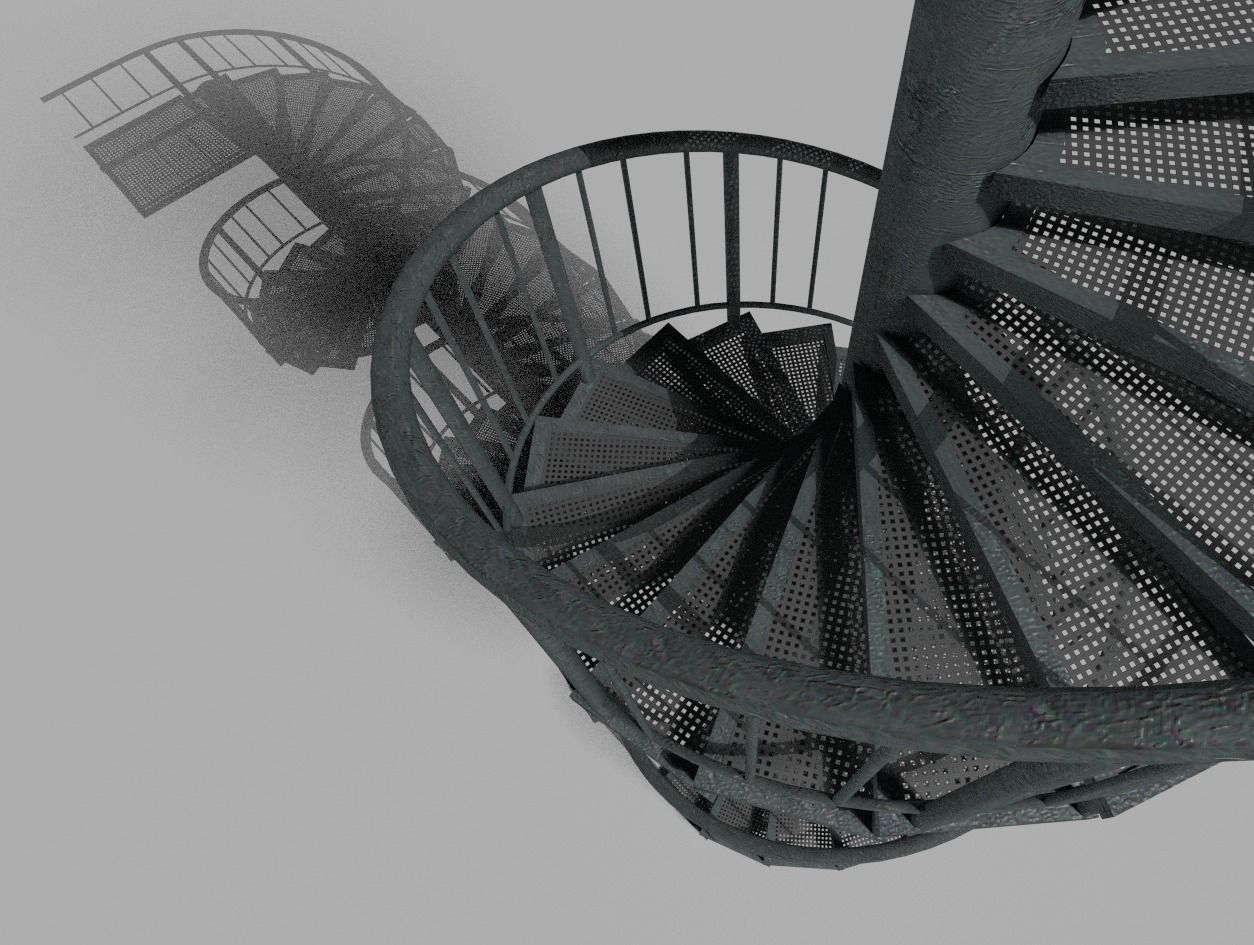 Aluminum Spiral Staircases U2013 3d Model