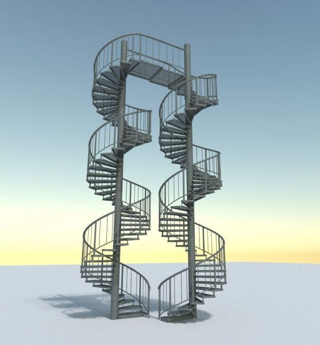Aluminum Spiral Staircases - 3d-Model