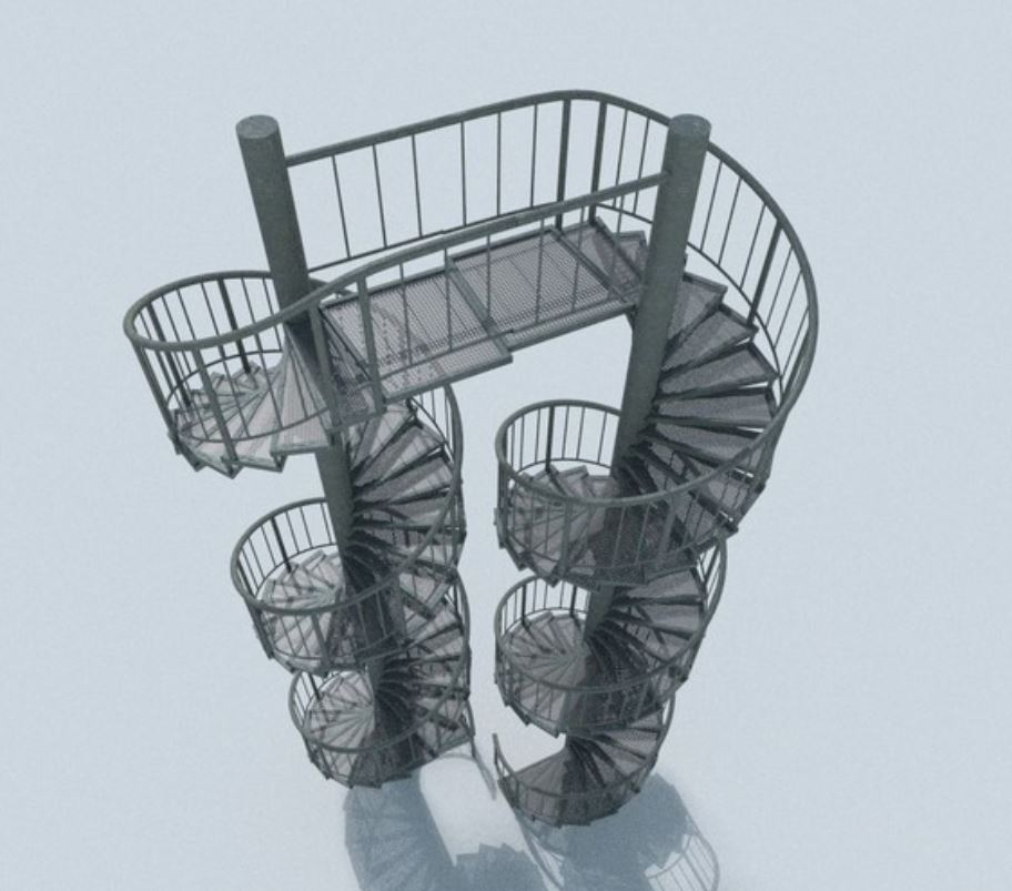Aluminum Spiral Staircases