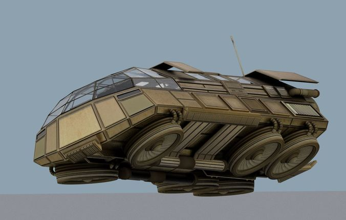 futuristic transport shuttle design