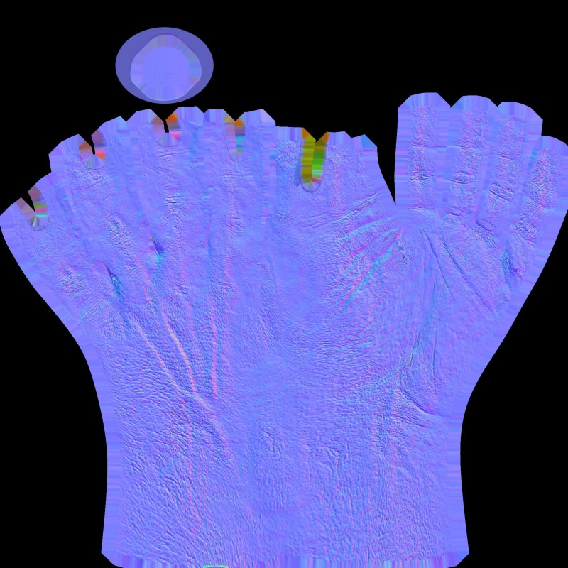 Hand textures normal map