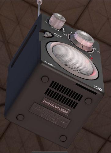 Radio rigged and animated