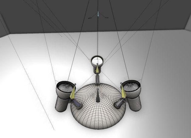Rigged Wall Lamp