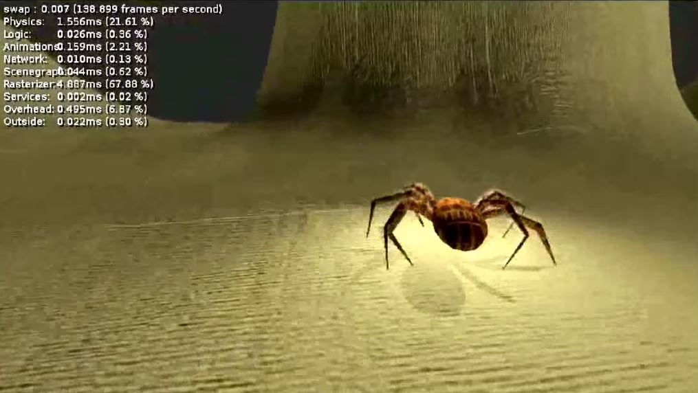 Spider in Blender Game Engine video