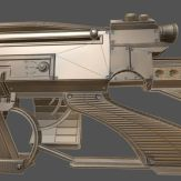 Futuristic Weapon Concept Low-Poly