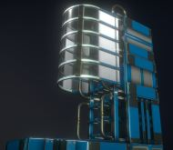 Modular Sci-Fi Ladders Blue Version (11)