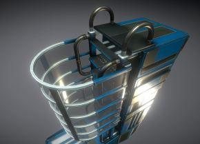 Modular Sci-Fi Ladders Blue Version (16)