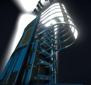Modular Sci-Fi Ladders Blue Version (22)