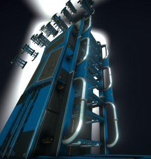 Modular Sci-Fi Ladders Blue Version (25)