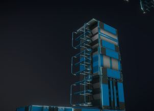 Modular Sci-Fi Ladders Blue Version (8)