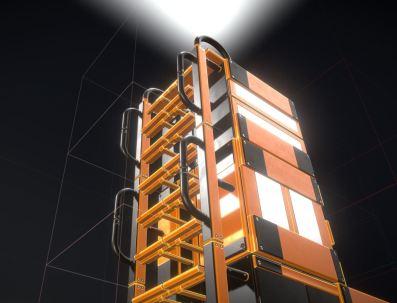 Modular Sci-Fi Ladders Orange Version (18)