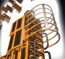 Modular Sci-Fi Ladders Orange Version (5)
