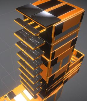 Modular Sci-Fi Ladders Orange Version (9)