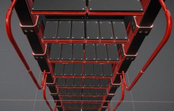 Modular Sci-Fi Ladders Red Version (1)