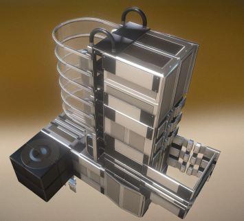 Modular Sci-Fi Ladders Silver Version (7)