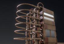 Modular Sci-Fi Ladders Woody Version (10)