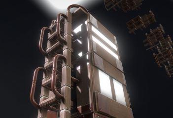 Modular Sci-Fi Ladders Woody Version (17)