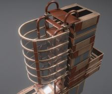 Modular Sci-Fi Ladders Woody Version (19)