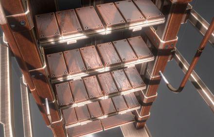Modular Sci-Fi Ladders Woody Version (2)