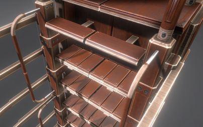 Modular Sci-Fi Ladders Woody Version (3)