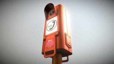 Emergency Call Box Autobahn Notruf