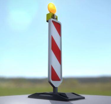 Leitbake mit Fußplatte (beidseitig) Low-Poly_by_3DHaupt