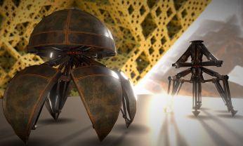 Hydraulic Sphere Bot - Rusty Version