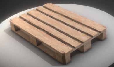 EUR Wood Pallet Low-Poly Version (2)