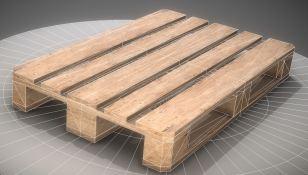 EUR Wood Pallet Low-Poly Version (3)