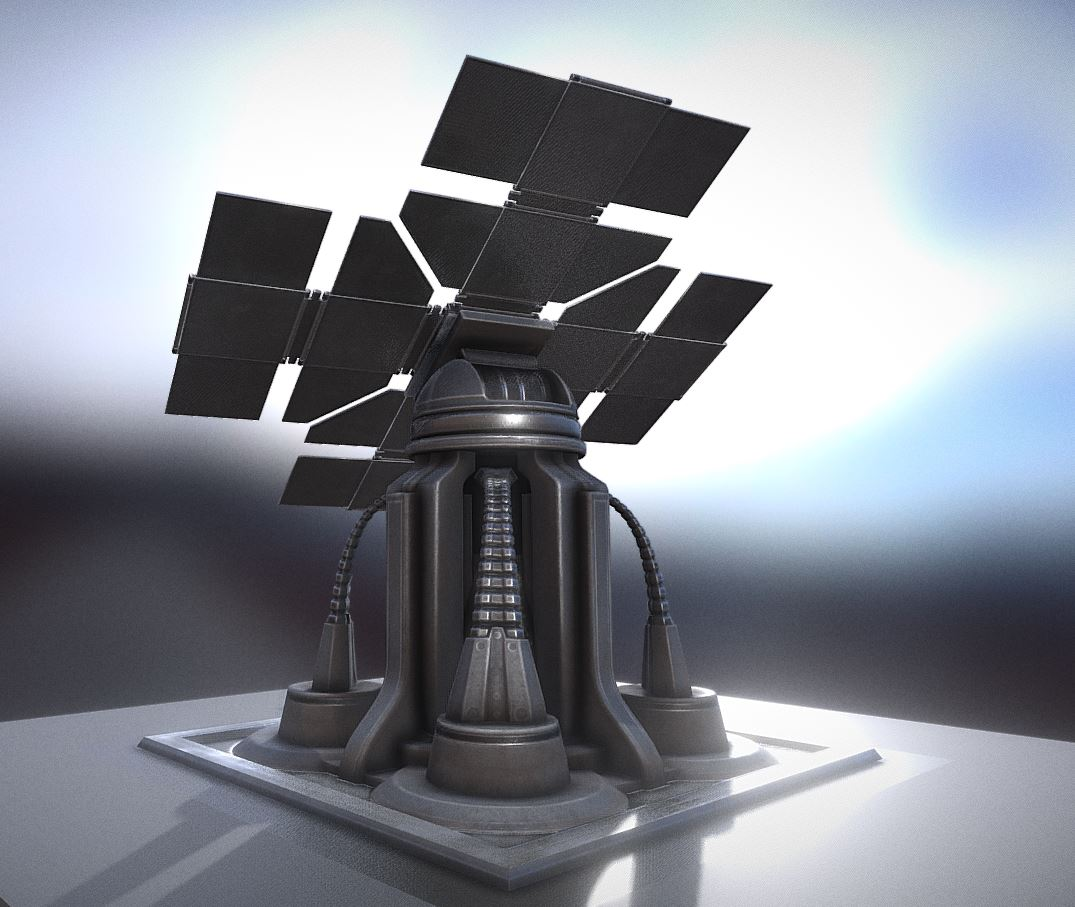 Futuristic Solar Power Tower