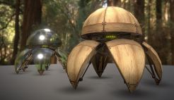 Hydraulic Sphere Bot - Forest Version -3DHaupt (1)