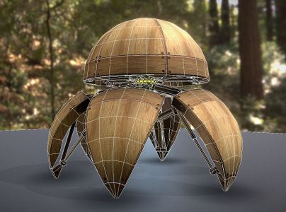 Hydraulic Sphere Bot - Forest Version -3DHaupt (3)