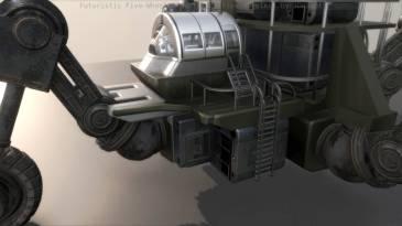 Futuristic Five-Wheeled Building (Five Wheeler)