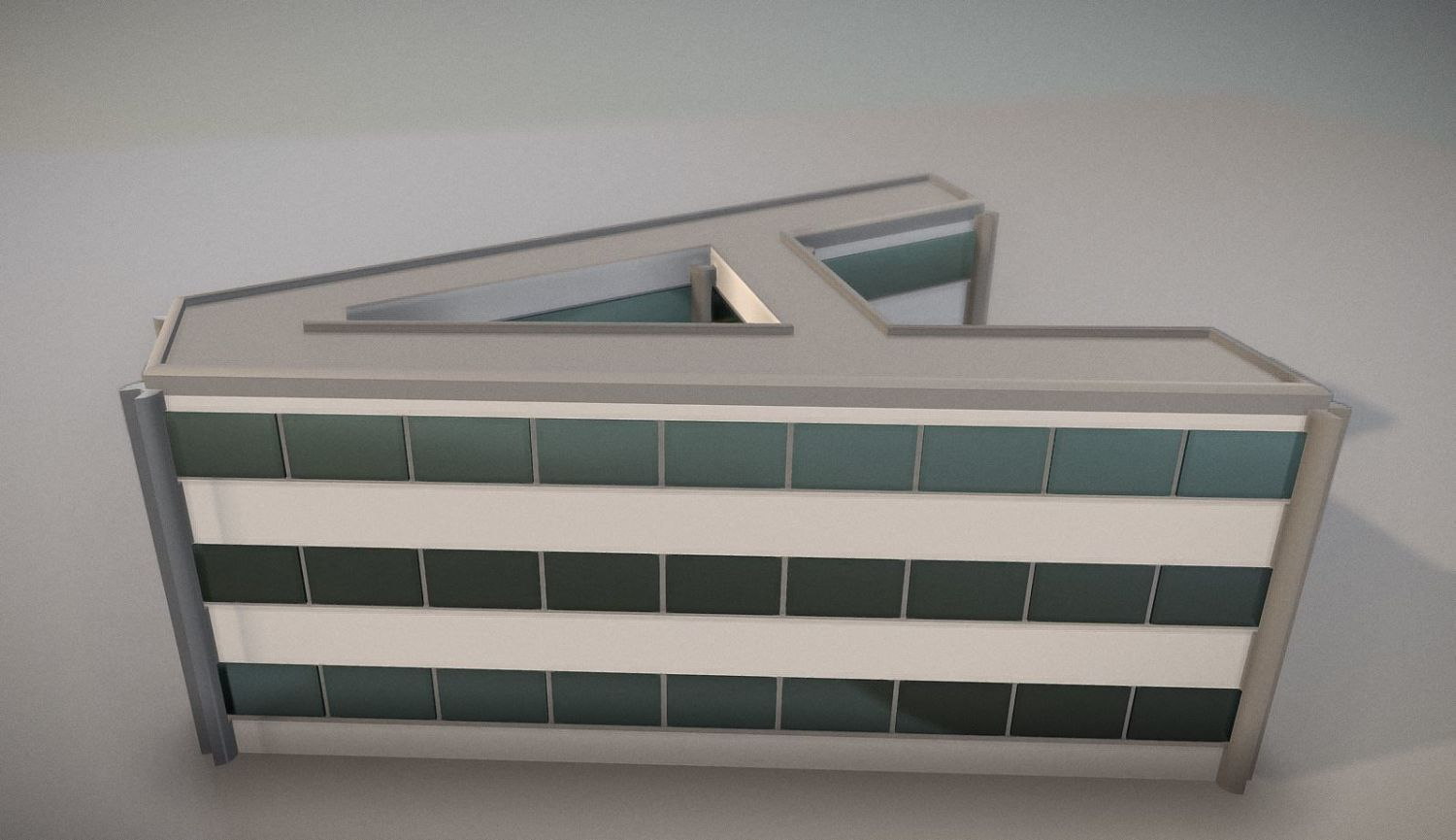 City Building Design A-1 - Buy Royalty Free 3D model by VIS-All-3D