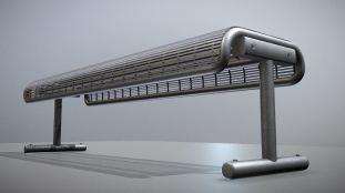 Modern-Metal-Lattice-Bench-Low-Poly (11)