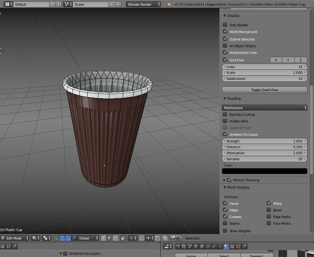 Plastic Cup Low Poly Clean Version