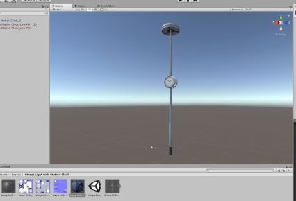 Street Light with Station Clock (Low-Poly) (9)