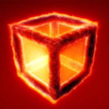 Burning Cube_Dennis_Haupt_(3dhaupt)_