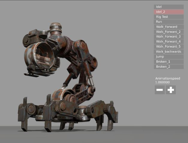 Mech Neck Walker – Blender Game Engine