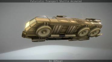 Futuristic Transport Shuttle Rigged _by_3dhaupt_0721